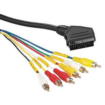 Propojovací kabel Scart - S-VHS a RCA